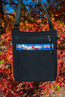 SHOULDER BAG / (Softshell) /  Black,  / Race Is On-Red (trim)