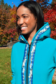 DENALI JACKET / (Softshell)  /  Tide Pool, / Race Is On-Teal (trim)