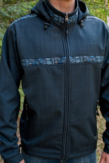 Jacket pictured with optional hood added
