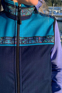 WOMEN'S KODIAK VEST / (Softshell) /   Navy, Ocean, / Totem-Aqua (trim)