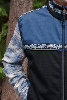 MEN'S KODIAK VEST / (Softshell) / Black, Harbor Blue,  / Salmon-Navy (trim)