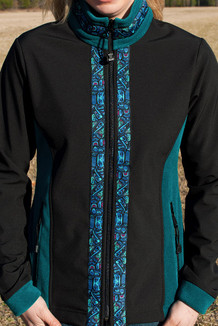 ALEUTIAN JACKET / (Hybrid) / Black, Emerald, / Totem-Aqua (trim)