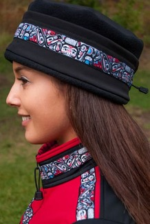 WOMEN'S AURORA HAT / (Softshell) / Solid Black,  / Totem-Brite (trim)