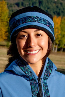WOMEN'S AURORA HAT / (Softshell) /   Twilight, Black,  / Totem-Aqua (trim)