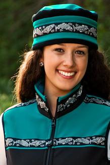 WOMEN'S AURORA HAT / (Softshell) / Teal, Black,  / Salmon-Grey (trim)