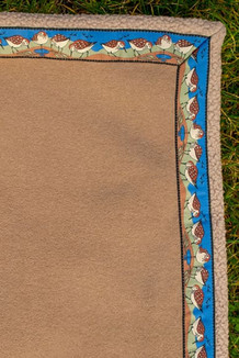 BLANKET - 5' x 5'  / (Double-Sided Thermal Fleece) / Sand Dune, / Sandpipers-Tan (trim)
