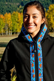 DENALI JACKET / (Softshell)  / Black,  / Katmai-Teal (trim)