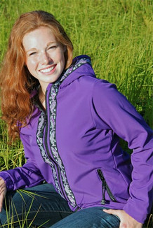 DENALI JACKET / (Softshell)  / Lupine,  / Salmon-Purple (trim)