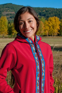 DENALI JACKET / (Softshell)  /   Ruby, / Katmai-Navy (trim)