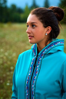 DENALI JACKET / (Softshell)  /  Tide Pool, / Sandpipers-Teal  (trim)
