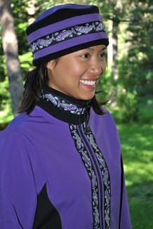 ARCTIC JACKET / (Softshell) / Lupine, Black, / Salmon-Purple (trim)