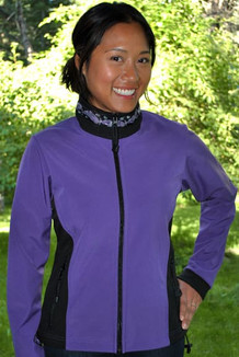 ARCTIC JACKET / (Softshell) / Lupine, Black, / Salmon-Purple (trim)
