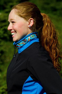 ARCTIC JACKET / - SALE - CLOSEOUT - (Softshell) / Black, Dolphin Blue, / Alaska Chatter-Sky (trim)