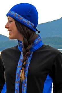 ARCTIC JACKET / (Softshell) / Black, Pacific Blue, / Sea Otters-Brite (trim)
