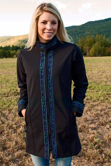 BOREALIS JACKET / (Softshell) / Black,  / Velvet-Lupine (trim)