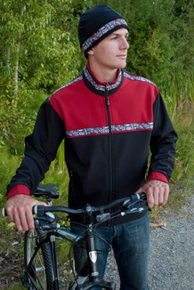 KODIAK JACKET / (Softshell) / Black, Brick Red, /  Totem-Brite (trim)