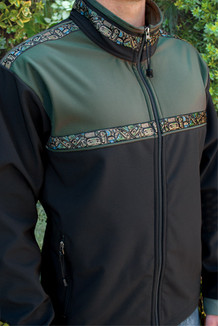 KODIAK JACKET / (Softshell) / Black, Moss, / Totem-Tan (trim)