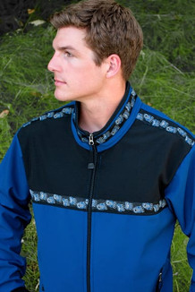 KODIAK JACKET / (Softshell) / Bluestone, Black, / Bear Tracks-Blue (trim)