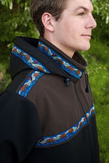 KODIAK JACKET / (Softshell) / Black, Dark Brown, / Katmai-Navy (trim)