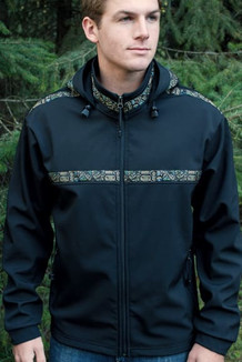 TUNDRA JACKET / (Softshell) / Black, / Totem-Tan (trim)