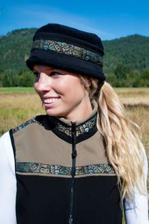 WOMEN'S KODIAK VEST / - SALE - CLOSEOUT - / (Hybrid)  / Black, Cappuccino, / Totem-Tan (trim)