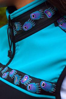 WOMEN'S KODIAK VEST / (Softshell) /   Black, Tide Pool, / Bear Tracks-Purple (trim)