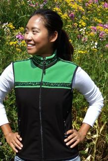 WOMEN'S KODIAK VEST / - SALE - CLOSEOUT - / (Hybrid)  / Black, Spring Green, / Velvet-Green (trim)