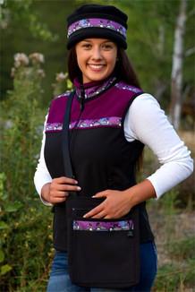WOMEN'S KODIAK VEST / - SALE - CLOSEOUT - / (Hybrid)  / Black, Mulberry, / Loons-Plum (trim)