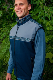 MEN'S KODIAK VEST / (Softshell) / Navy, Granite, / Totem-BlueGrey (trim)