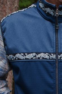 MEN'S KODIAK VEST / (Softshell) / Navy, Steel Blue,  / Salmon-Navy (trim)