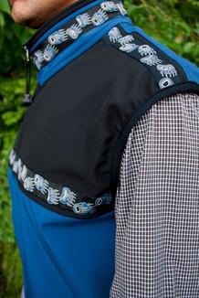 MEN'S KODIAK VEST / (Softshell) / Bluestone, Black, / Bear Tracks-Blue (trim)