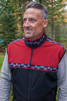 MEN'S KODIAK VEST / (Softshell) / Black, Tamale,  / Bear Tracks-Red (trim)