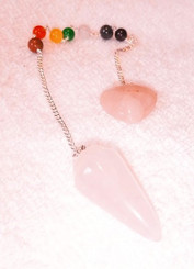 Reiki Pendulum with Heart - Rose Quartz