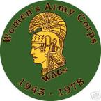 STICKER US ARMY VET WOMEN'S ARMY CORPS WACs
