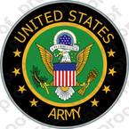 STICKER US ARMY VET SERVICE VETERAN A