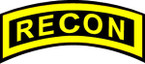 STICKER US ARMY VET FORCE RECON TAB