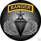 STICKER US ARMY VET FORCE RANGER SENIOR PARACHUTE