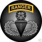 STICKER US ARMY VET FORCE RANGER MASTER PARACHUTE