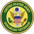 STICKER US ARMY VET DISABLED VETERAN