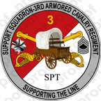 STICKER US ARMY UNIT Support - 3rd Armored Cavalry Regiment