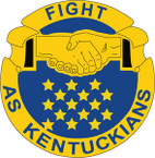 STICKER US ARMY UNIT Kentucky - Army National Guard