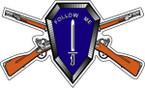 STICKER US ARMY UNIT Infantry School w Rifles