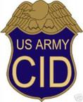 STICKER US ARMY UNIT CID SHIELD COLOR1
