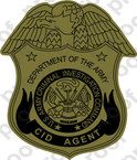 STICKER US ARMY UNIT CID AGENT OD