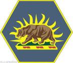 STICKER US ARMY UNIT California Army National Guard