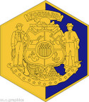 STICKER US ARMY UNIT ARNG - WISCONSIN