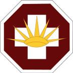 STICKER US ARMY UNIT 8th Medical Brigade SHIELD