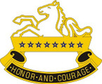 STICKER US ARMY UNIT 8TH CAVALRY REGIMENT