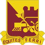 STICKER US ARMY UNIT 729th Transportation Battalion CREST