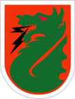 STICKER US ARMY UNIT 5th Signal Command SHIELD